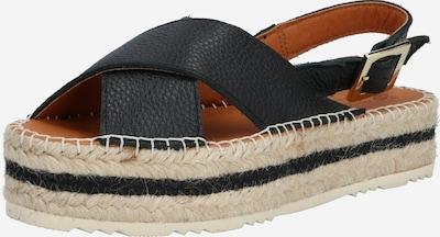 MACARENA Sandały w kolorze beżowy / czarnym, Podgląd produktu