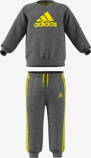 ADIDAS PERFORMANCE Jogginganzug in limone / graumeliert, Produktansicht