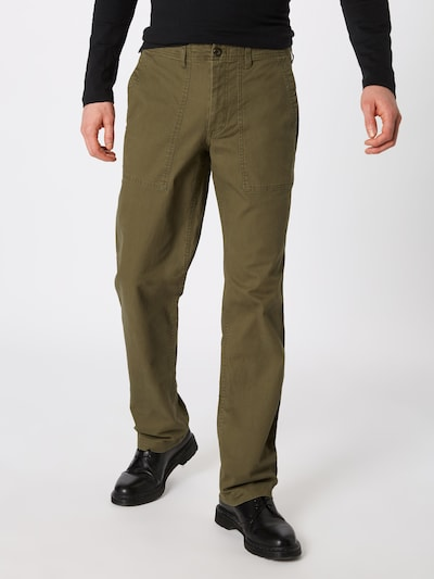 GAP Kalhoty - olivová: Pohled zepředu