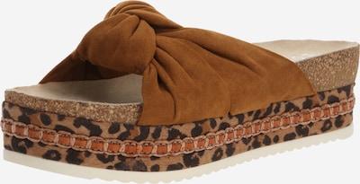 BULLBOXER Pantofle - hnědá: Pohled zepředu