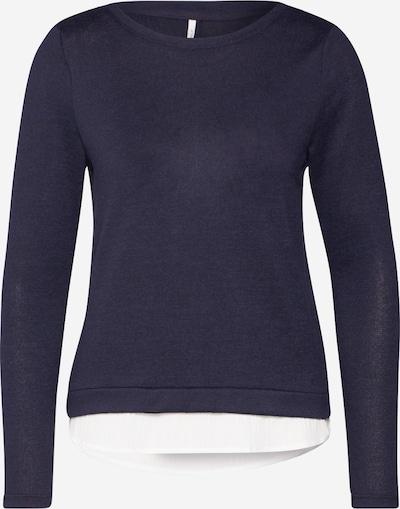 ONLY Shirt  'ONLASHLEY L/S PLACKET MIX TOP JRS' in nachtblau, Produktansicht
