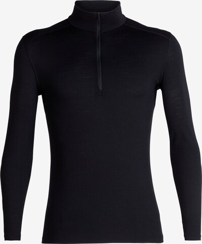 Icebreaker Langarmshirt '200 Oasis Zip' in schwarz, Produktansicht
