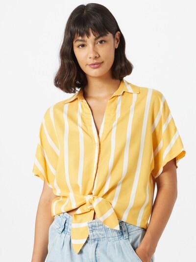 Tally Weijl Bluzka w kolorze żółty / białym, Podgląd na modelu(-ce)