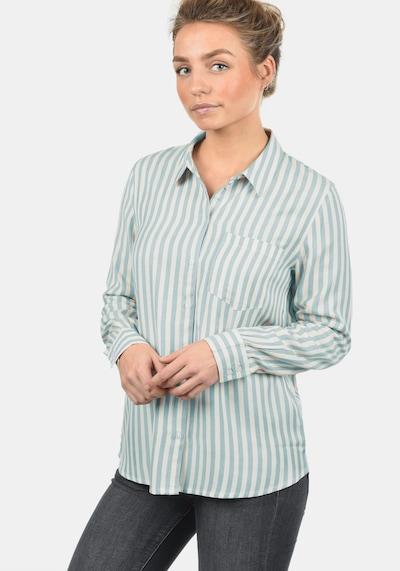 JACQUELINE de YONG Hemdbluse 'Mia' in hellblau / weiß, Modelansicht
