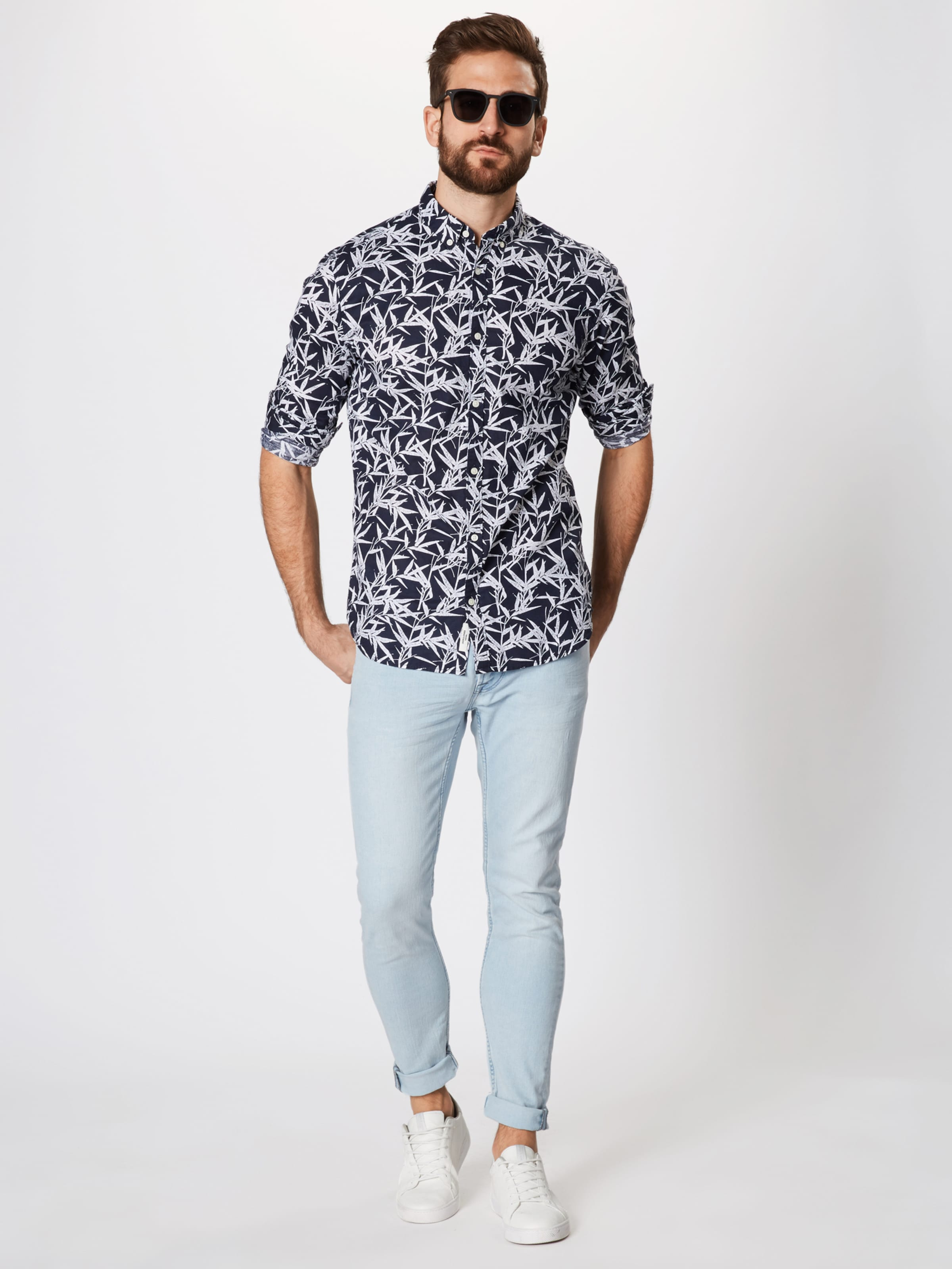 Chemise Jackamp; MarineBlanc Jones Bleu En SMUpVz