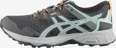 ASICS Chaussure de course en gris / graphite / menthe, Vue avec produit