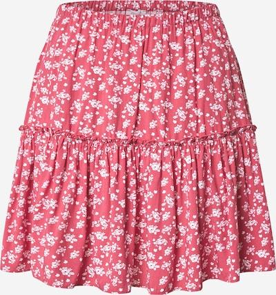 NA-KD Suknja 'Frill' u roza / bijela, Pregled proizvoda