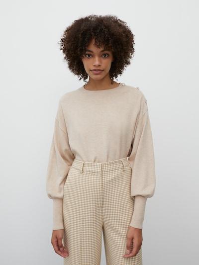 EDITED Pullover 'Lavinia' in beige / creme, Modelansicht