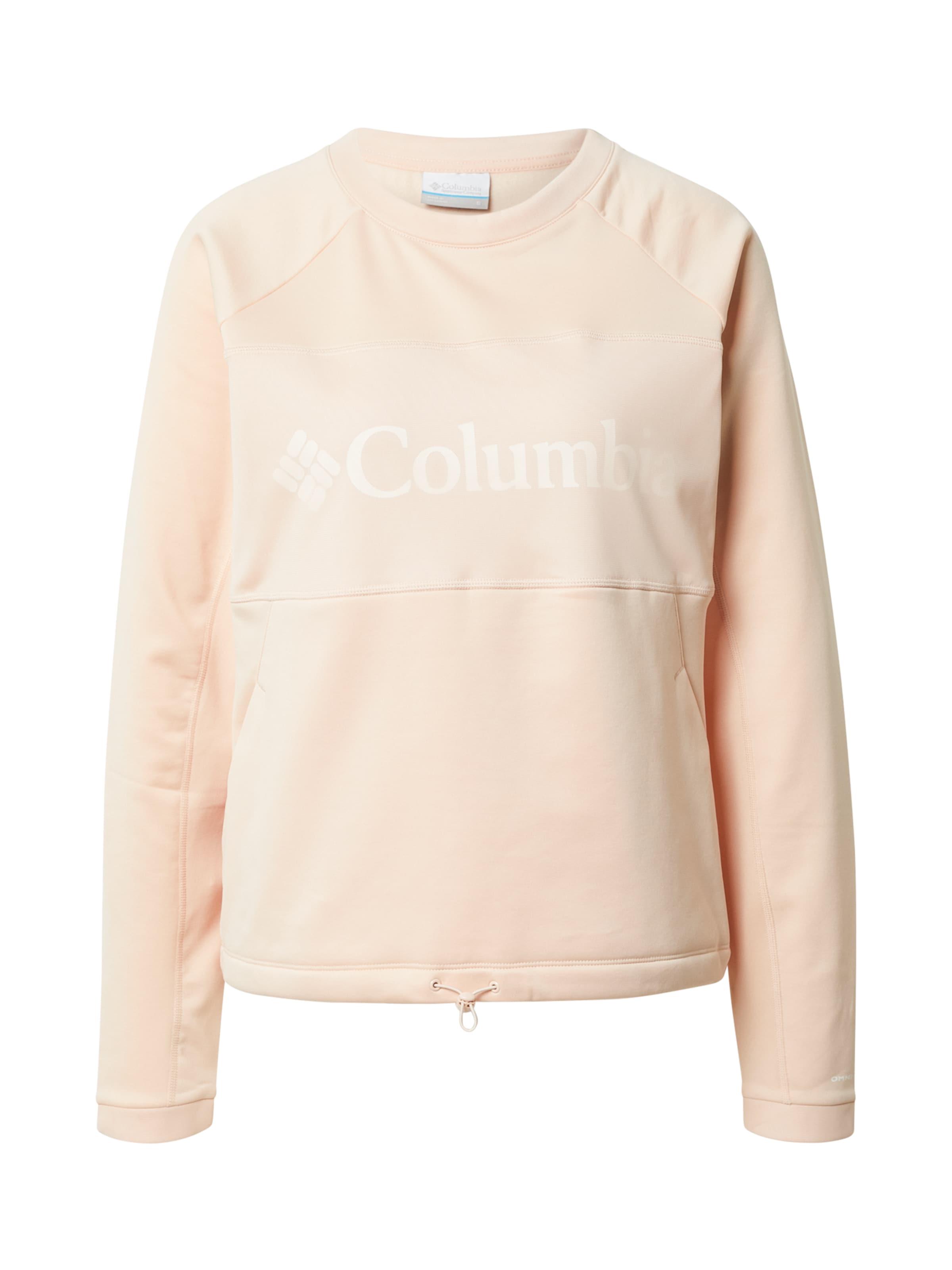 COLUMBIA Sport szabadidős felsők rózsaszín / fehér színben