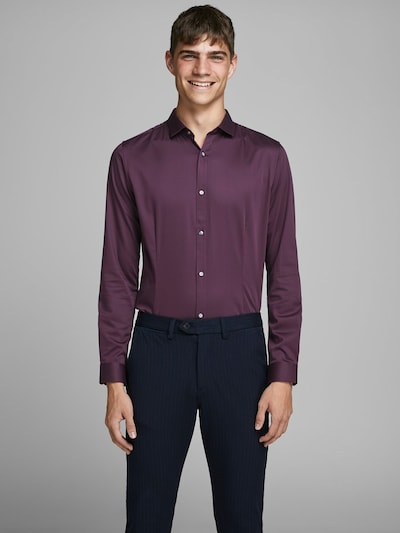 JACK & JONES Chemise business en violet: Vue de face
