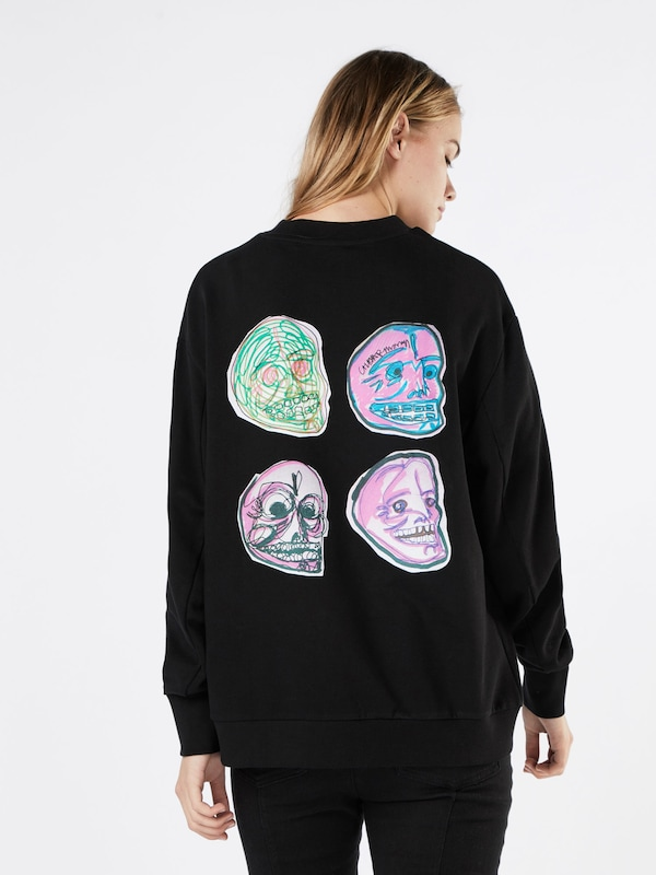 CHEAP MONDAY Sweatshirt 'Con sweat Logo squad'