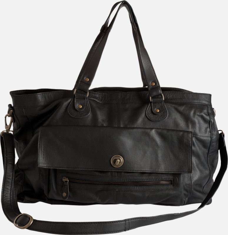 PIECES Tasche Leder-Reisetasche