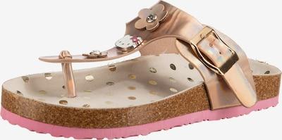 HELLO KITTY Zehentrenner in gold / pink / rosa, Produktansicht