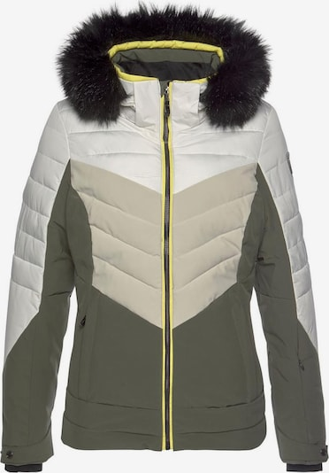 KILLTEC Skijacke in beige / oliv / weiß, Produktansicht