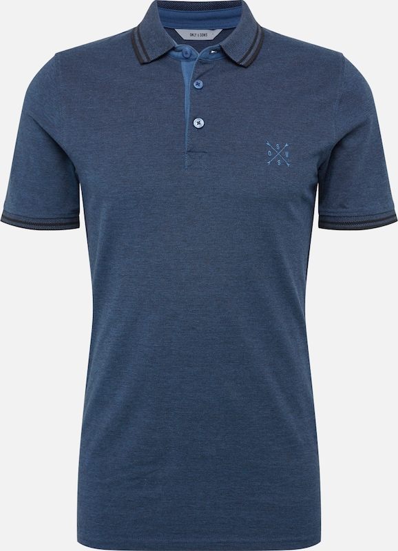 Only & Sons Poloshirt 'onsSTAN SS FITTED POLO TEE NOOS' in dunkelblau, Produktansicht
