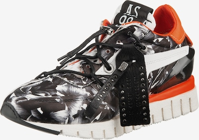 A.S.98 Sneaker in orange / schwarz / weiß, Produktansicht