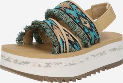 TEVA Sandales en beige clair / bleu / noisette, Vue avec produit