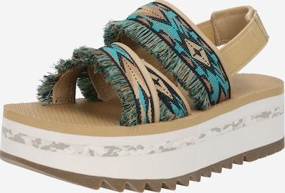 TEVA Sandale in hellbeige / blau / hellbraun, Produktansicht