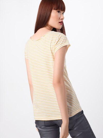 Sublevel T-shirt en jaune / blanc cassé: Vue de dos