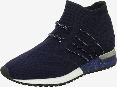 Edel Fashion Sneakers in dunkelblau / silber / weiß, Produktansicht