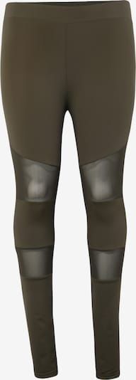 Urban Classics Leggings 'Ladies Tech Mesh Legging' en olive: Vue de face
