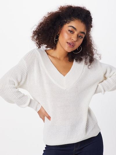 ONLY Sweter 'MELTON' w kolorze białym: Widok z przodu