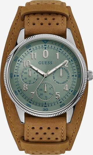 GUESS Uhr 'Terrain, W1243G1' in pastellblau / braun / silber, Produktansicht