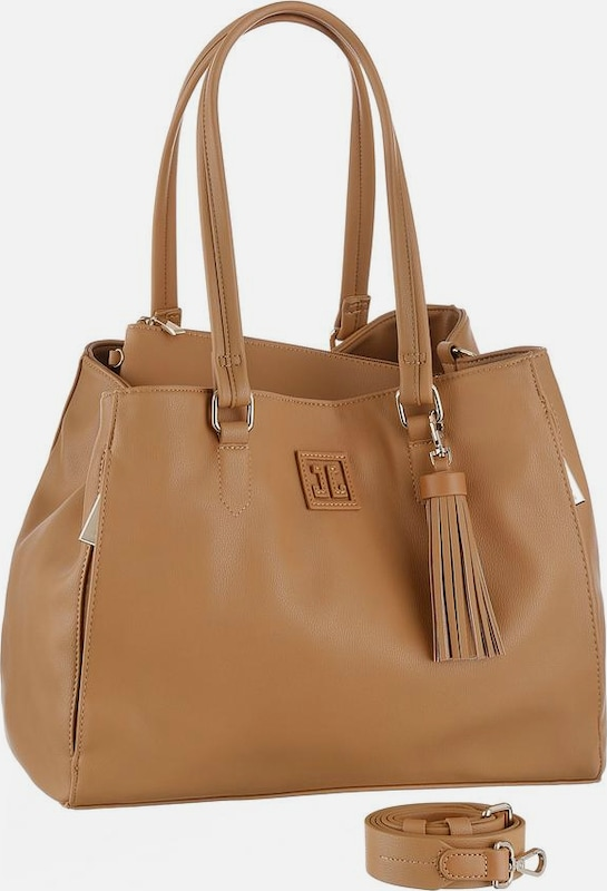 JETTE Shopper 'Logopatch' in camel, Produktansicht