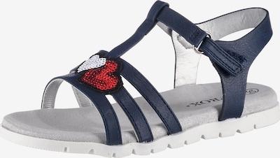 Sprox Sandale in navy / hellrot / weiß, Produktansicht