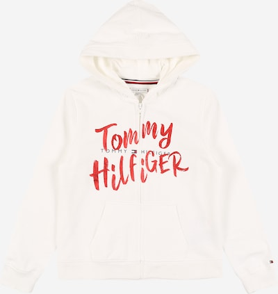 TOMMY HILFIGER Sweatvest 'GRAPHIC' in de kleur Wit, Productweergave
