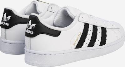 ADIDAS ORIGINALS Sneaker 'Superstar' in gold / schwarz / weiß: Rückansicht