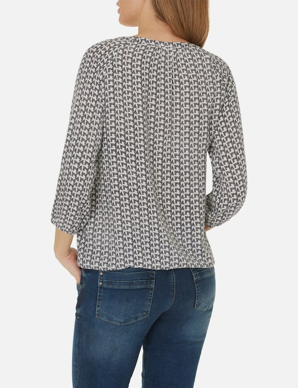 Betty & Co Bluse mit grafischem Muster