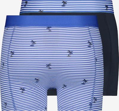 Shiwi Boxershorts 'Striped palm' in de kleur Blauw: Achteraanzicht