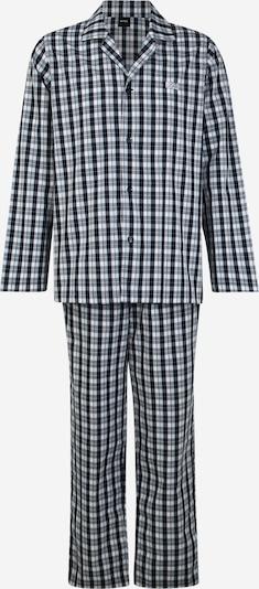BOSS Duga pidžama u kobalt plava / bijela, Pregled proizvoda