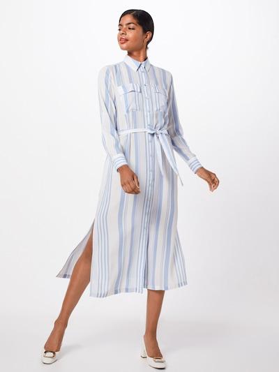 SISTERS POINT Kleid 'ISABEL-L.SH' in blau / weiß, Modelansicht