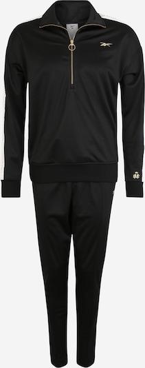 Costum de trening REEBOK pe negru / alb, Vizualizare produs