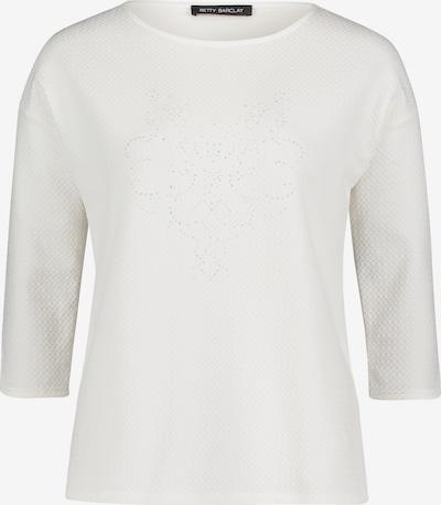 Betty Barclay Sweatshirt mit Schmucksteinen in weiß: Frontalansicht
