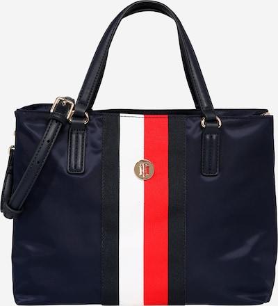 TOMMY HILFIGER Ročna torbica 'Poppy' | temno modra / rdeča / bela barva, Prikaz izdelka