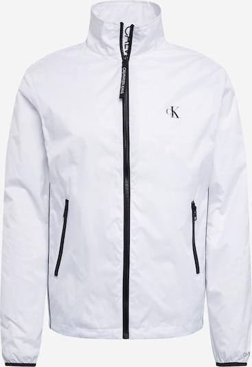 Calvin Klein Jeans Jacke 'NYLON HARRINGTON' in schwarz / weiß, Produktansicht