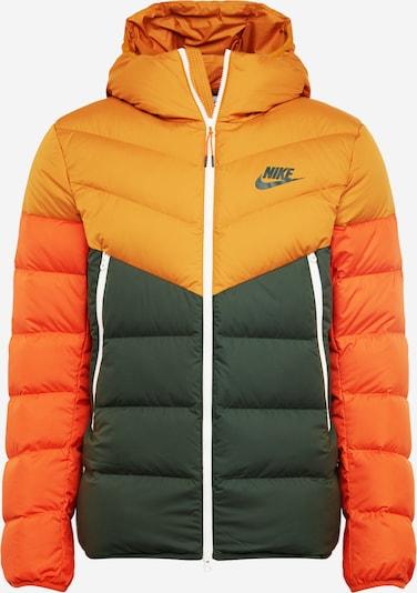 Nike Sportswear Veste d'hiver en moutarde / vert foncé / orange, Vue avec produit