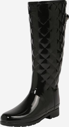 HUNTER Regenlaarzen 'REFINED GLOSS' in de kleur Zwart, Productweergave