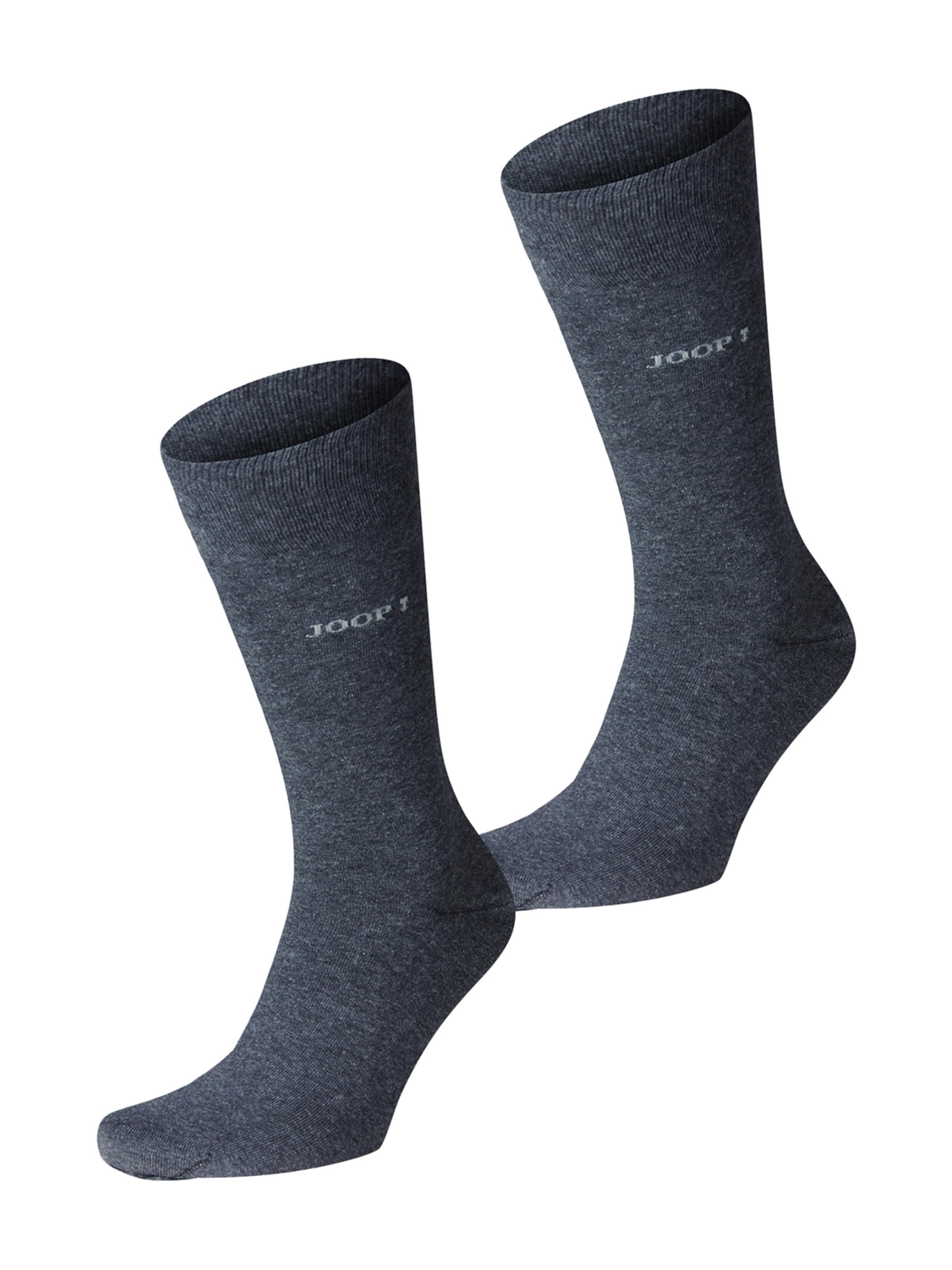 JOOP! Socken 'Superior' in taubenblau / weiß Melange 9927