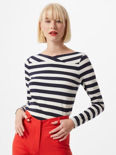 Esprit Collection Koszulka 'NOOS' w kolorze granatowy / białym: Widok z przodu