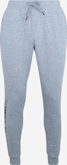 UNDER ARMOUR Sportbroek 'RIVAL FLEECE WORDMARK LOGO' in de kleur Grijs gemêleerd / Zwart, Productweergave