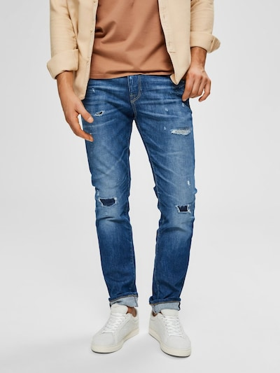 SELECTED HOMME Jeans in blue denim, Modelansicht