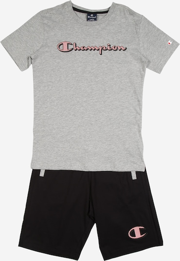 Champion Authentic Athletic Apparel Shirt + Shorts in graumeliert, Produktansicht