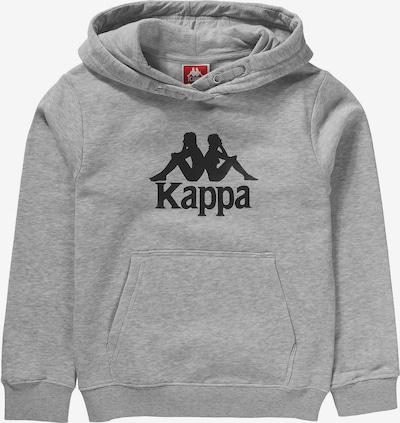 KAPPA Hoodie 'TAINO' in grau / schwarz, Produktansicht