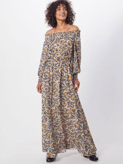 minimum Kleider 'Gardun' in gelb / schwarz / weiß, Modelansicht