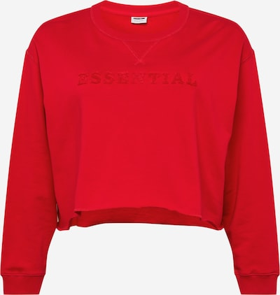 Noisy May Curve Sweatshirt 'Manton' in de kleur Rood, Productweergave