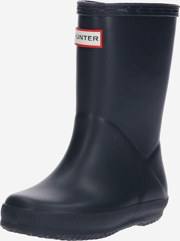 HUNTER Rubber Boots 'FIRST CLASSIC' in Blue